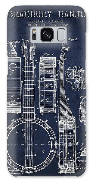 Banjo Patent Drawing From 1882 - Blue Galaxy Case