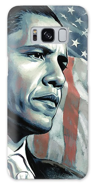 Barack Obama Galaxy Case - Barack Obama Artwork 2 by Sheraz A