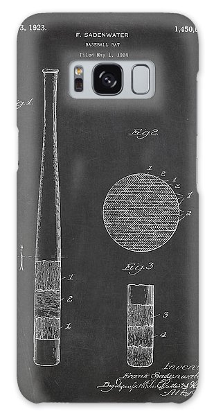 Baseball Bats Galaxy S8 Case - Baseball Bat Patent Drawing From 1920 by Aged Pixel