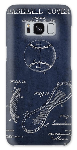 Baseball Bats Galaxy S8 Case - Baseball Cover Patent Drawing From 1924 by Aged Pixel