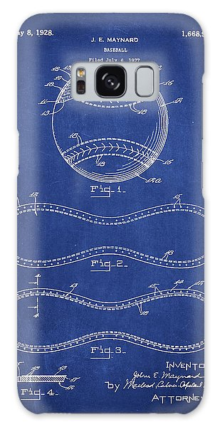 Baseball Bats Galaxy S8 Case - Baseball Patent Drawing From 1927 by Aged Pixel