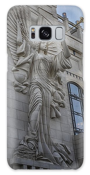 Galaxy Case featuring the photograph Bass Hall Angel by Joan Carroll