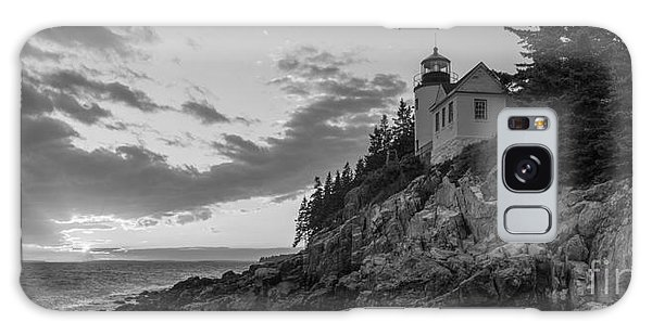 Bass Harbor Head Light Sunset  Galaxy Case