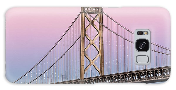 Bay Bridge Lights At Sunset Galaxy Case by Kate Brown