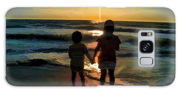 Beach Kids Galaxy Case by Margie Chapman