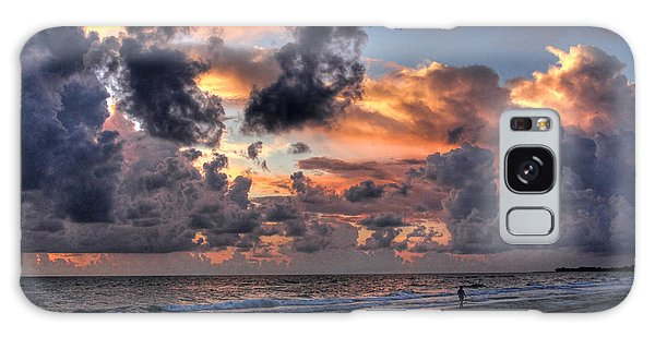 Beach Walk - Florida Seascape Galaxy Case by HH Photography of Florida