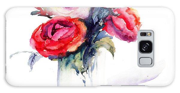 Beautiful Roses Flowers Galaxy Case