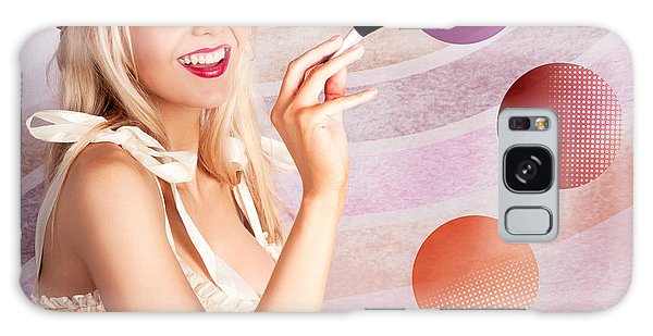 Vivacious Galaxy Case - Beauty Woman Using Rouge Blush Color Pallet by Jorgo Photography - Wall Art Gallery