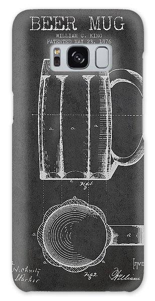 Bar Galaxy Case - Beer Mug Patent From 1876 - Dark by Aged Pixel