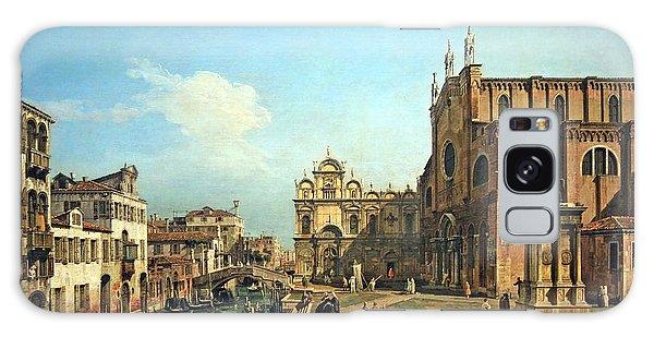 Bellotto's The Campo Di Ss. Giovanni E Paolo In Venice Galaxy Case by Cora Wandel