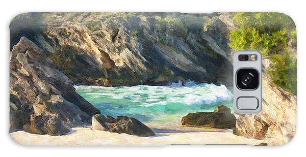 Bermuda Hidden Beach Galaxy Case by Verena Matthew