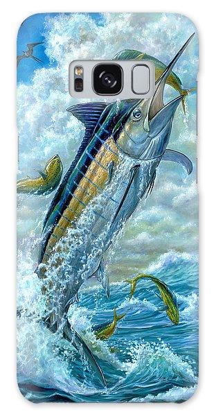 Big Jump Blue Marlin With Mahi Mahi Galaxy Case