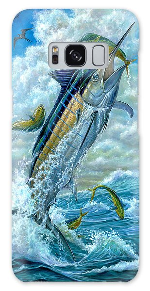 Big Jump Blue Marlin With Mahi Mahi Galaxy S8 Case