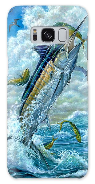 Big Jump Blue Marlin With Mahi Mahi Galaxy Case