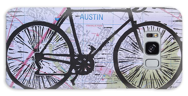 Bike 8 On Map Galaxy Case by William Cauthern