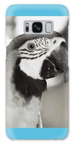 Black And White Parrot Beauty Galaxy Case by Belinda Lee