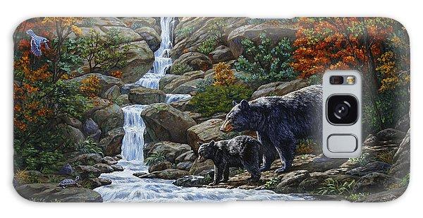 Woodpecker Galaxy S8 Case - Black Bear Falls by Crista Forest