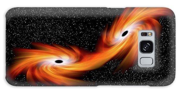 Scientific Illustration Galaxy Case - Black Holes Merging In Space by Victor De Schwanberg
