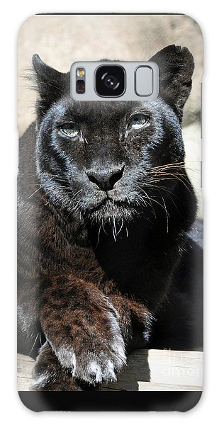 Black Leopard Galaxy Case by Savannah Gibbs