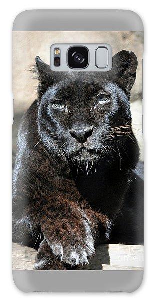 Black Leopard Galaxy Case