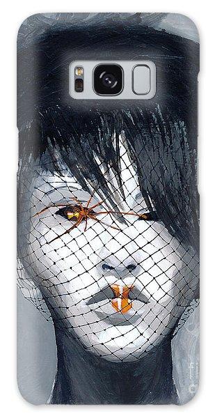 Black Widow Galaxy Case by Denise Deiloh