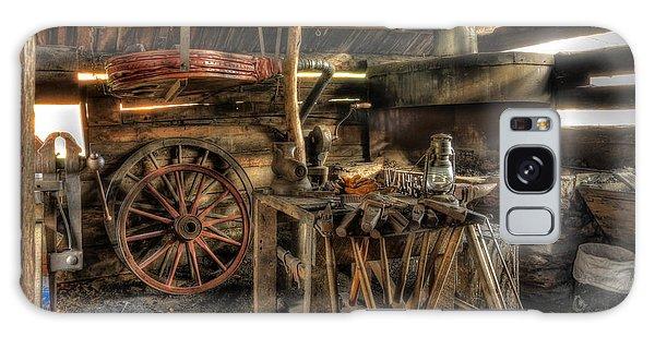 Blacksmith Shop Galaxy Case by Jaki Miller