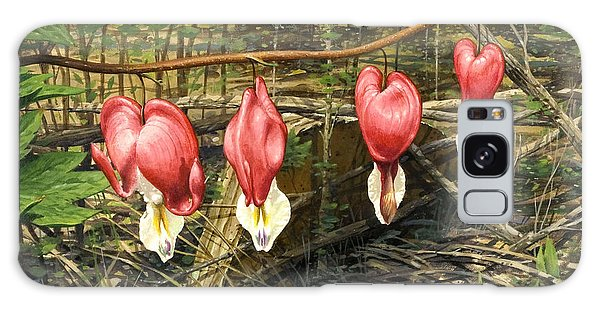 Bleeding Hearts Galaxy Case by Bob  George