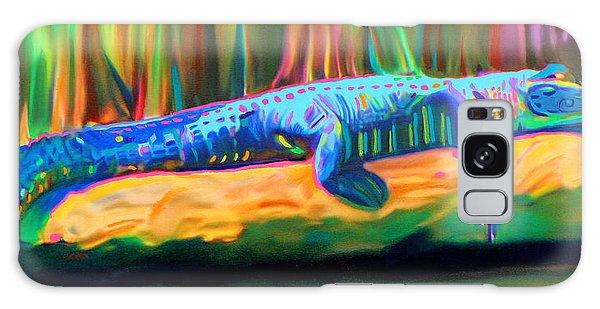 Blue Alligator Galaxy Case