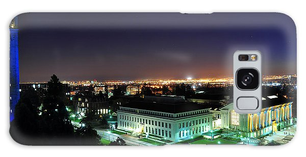 Blue Campanile And Doe Library Galaxy Case