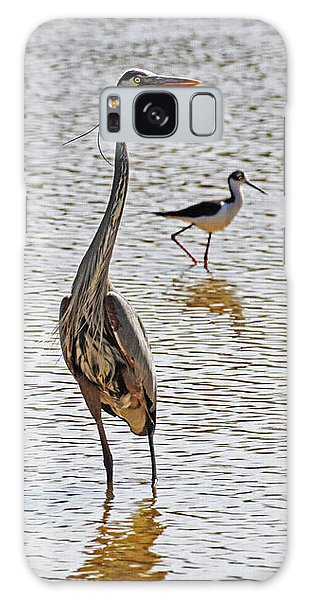 Blue Heron And Stilt Galaxy Case by Tom Janca