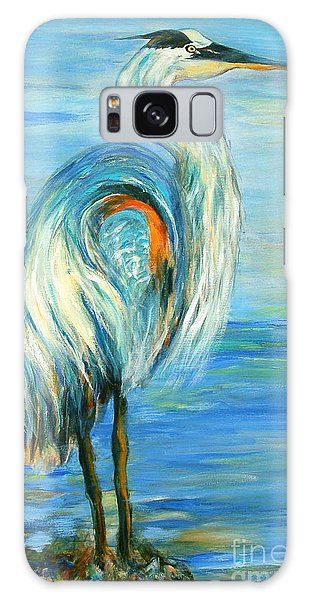 Blue Heron I Galaxy Case by Ellen Anthony