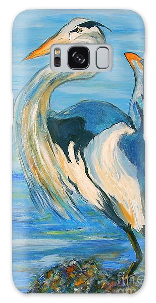 Blue Heron II Galaxy Case