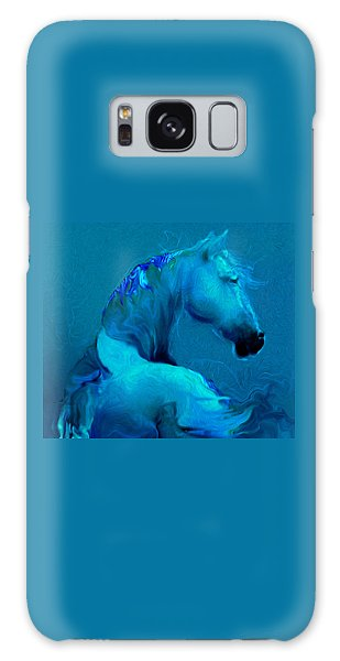 Blue Horse Galaxy Case
