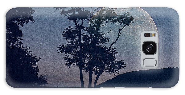 Moon With Trees Galaxy Case