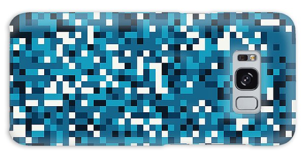 Blue Pixel Art Galaxy Case by Mike Taylor