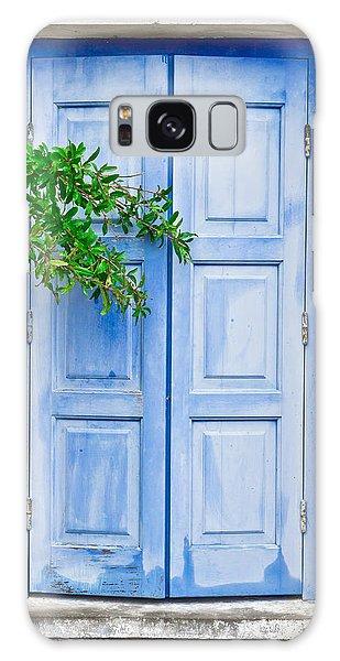 Door Galaxy Case - Blue Shutter by Tom Gowanlock