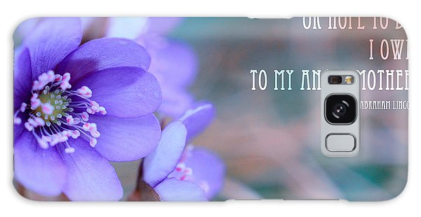Blue Springtime Flowers Mother's Day Galaxy Case