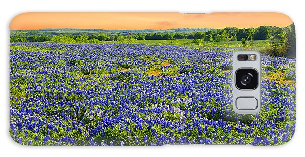 Bluebonnet Sunset  Galaxy Case