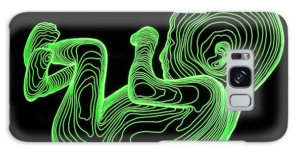 Contour Galaxy Case - Body Contour Map Of 14-week-old Foetus by Dr Robin Williams/science Photo Library