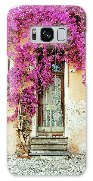 Bougainvillea Doorway Galaxy Case
