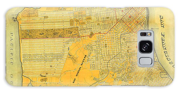 Britton And Reys Guide Map Of The City Of San Francisco. 1887. Galaxy Case