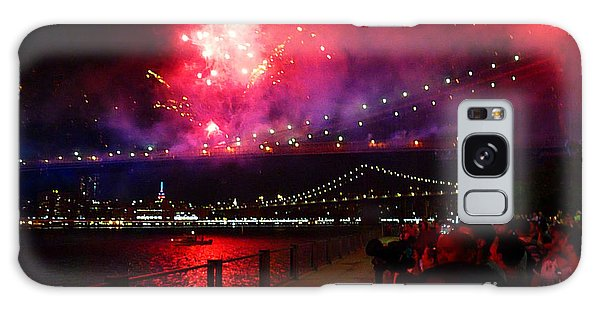 Brooklyn Bridge Fireworks Galaxy Case