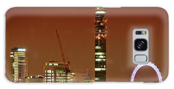 London Eye Galaxy Case - Bt Tower And The London Eye by Gustoimages/science Photo Library