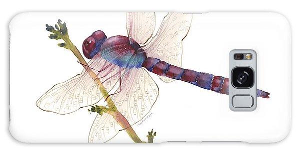 Burgundy Dragonfly  Galaxy Case