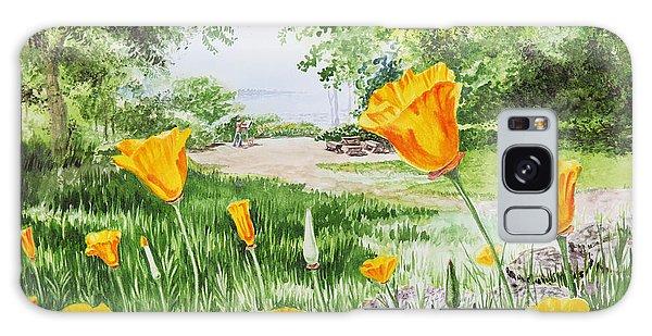 Galaxy Case featuring the painting California Poppies by Irina Sztukowski