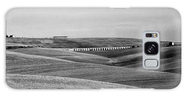 Tarquinia Landscape Campaign With Aqueduct And Houses Galaxy Case
