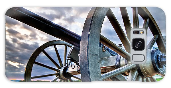 Cannon Over Gettysburg Galaxy Case by Andres Leon