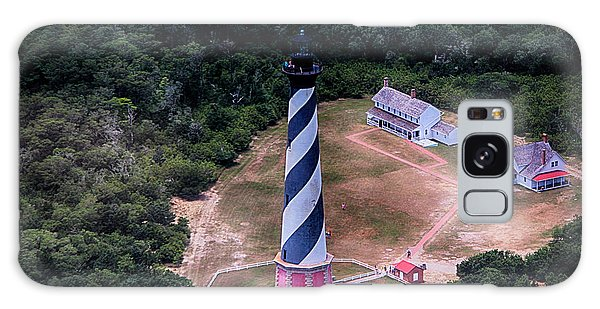 Cape Hatteras Lighthouse From Above Galaxy Case by Tony Cooper