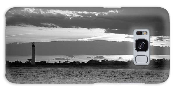 Cape May Galaxy Case - Cape May Lighthouse Sunset Bw by Michael Ver Sprill