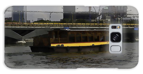 Cartoon - Colorful River Cruise Boat In Singapore Galaxy Case
